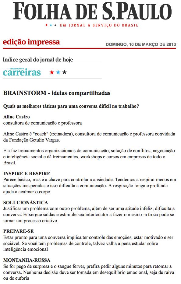 Eu na Folha de S.Paulo